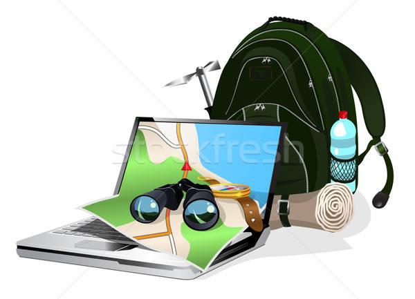 navigation equipment and tourist equipment Stock photo © ayaxmr
