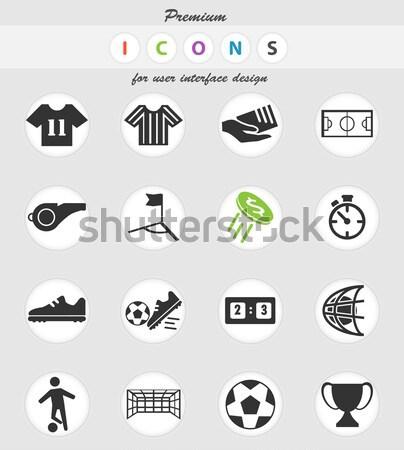 Soccer icons set Stock photo © ayaxmr