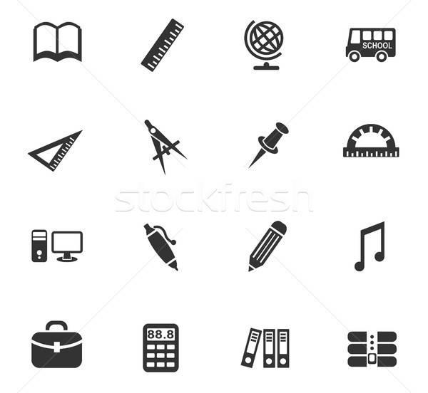 Okul web simgeleri kullanıcı arayüz dizayn Stok fotoğraf © ayaxmr