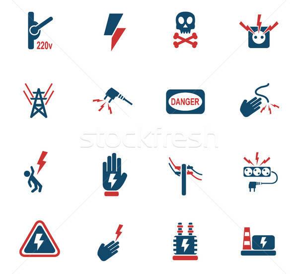 Hoogspanning web icons gebruiker interface ontwerp Stockfoto © ayaxmr
