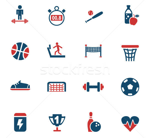 sport icon set Stock photo © ayaxmr