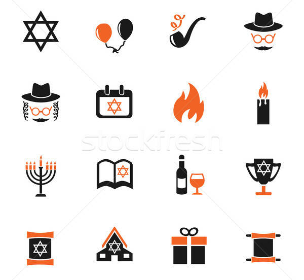 hanukkah icon set Stock photo © ayaxmr