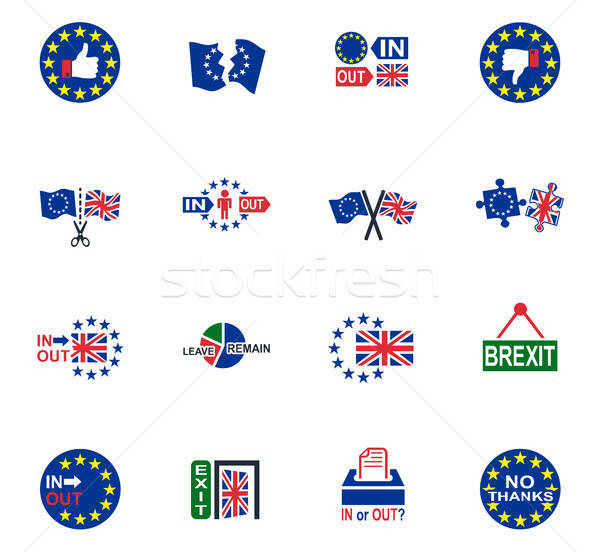 vector symbol of brexit Stock photo © ayaxmr