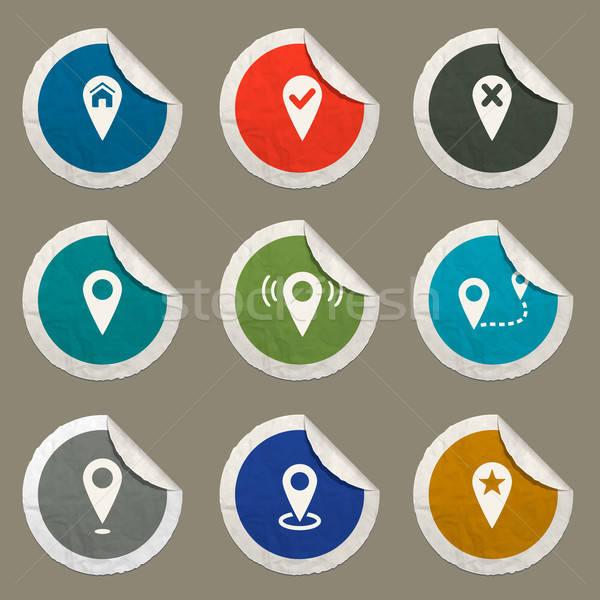 Karten Web Benutzer Schnittstelle Haus Stock foto © ayaxmr