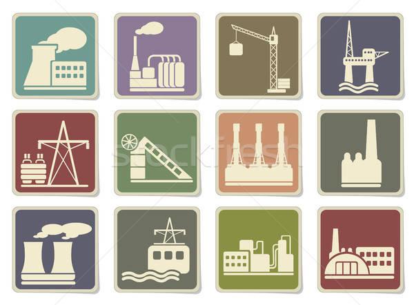 Fabrik Industrie Symbole eps 10 Auto Stock foto © ayaxmr