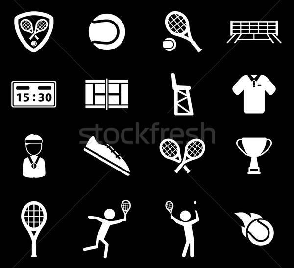 Stock photo: Tennis simply icons