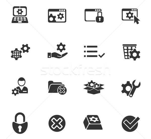 Web icons gebruiker interface ontwerp Stockfoto © ayaxmr