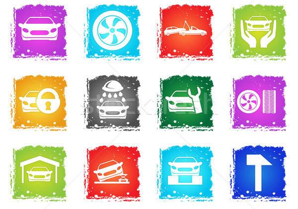 Auto Service Icons Stock photo © ayaxmr