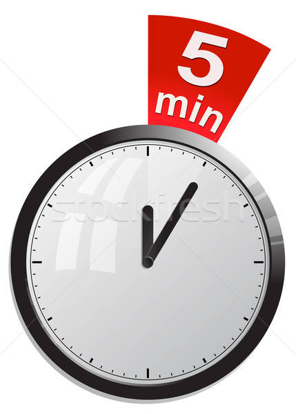 Timer 5 minutes vector illustration Stock photo © ayaxmr