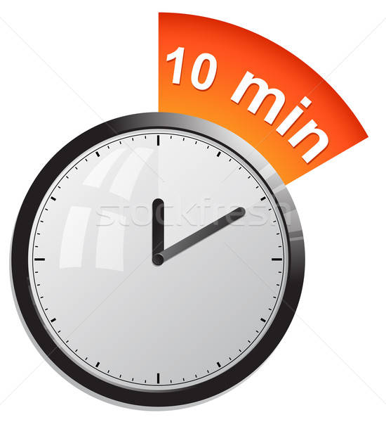 Timer 10 minutes vector illustration Stock photo © ayaxmr