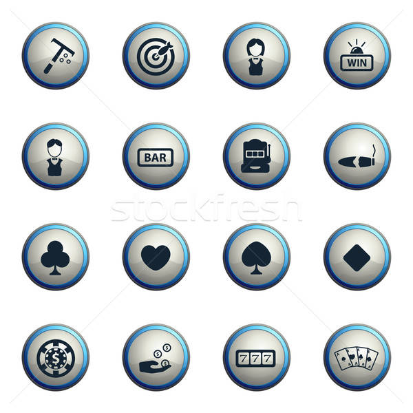 Casino icons set Stock photo © ayaxmr