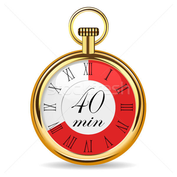 Gépi óra időzítő 40 jegyzőkönyv izolált Stock fotó © ayaxmr