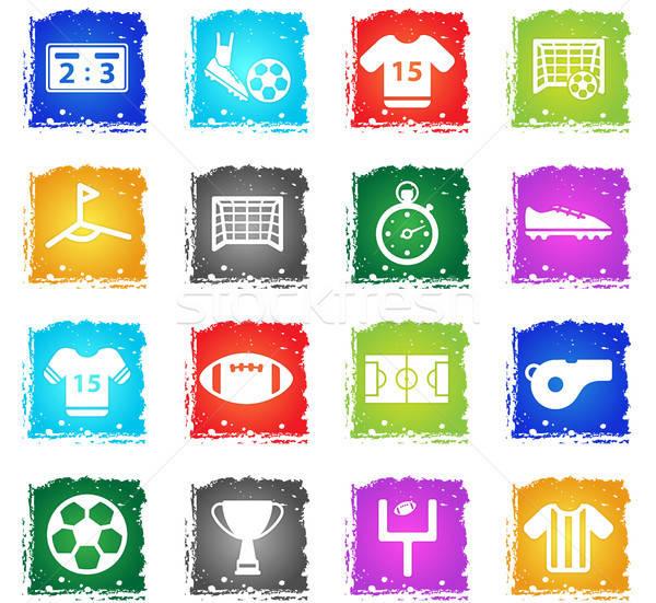 Football simply icons Stock photo © ayaxmr
