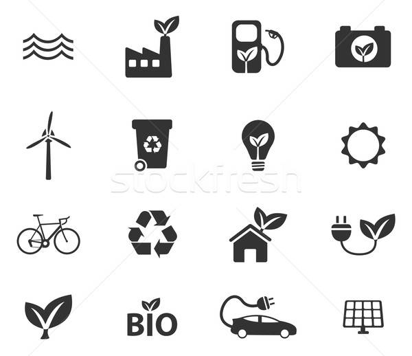 Alternative energy simply icons Stock photo © ayaxmr