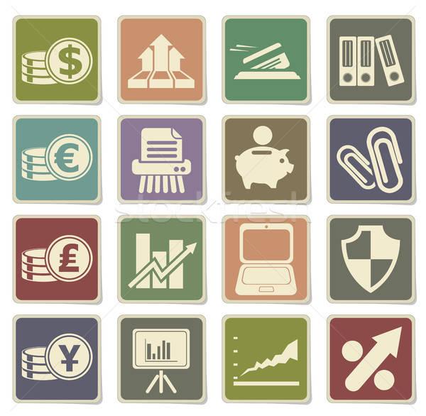 Negocios simple iconos web usuario Foto stock © ayaxmr