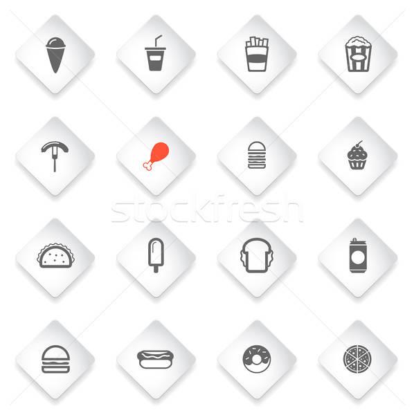 быстрого питания просто иконки символ веб-иконы пользователь Сток-фото © ayaxmr