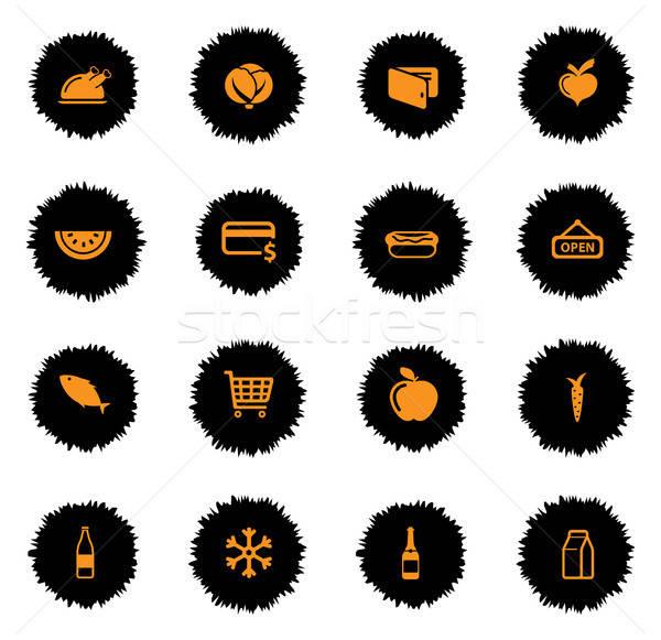 Alimentari semplicemente icone vettore web utente Foto d'archivio © ayaxmr