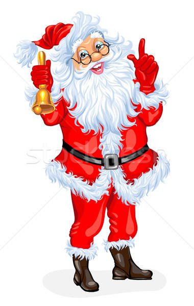 Santa Claus with a bell Stock photo © ayaxmr