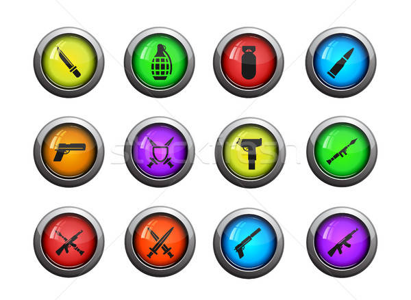 Stock photo: Weapon simply icons