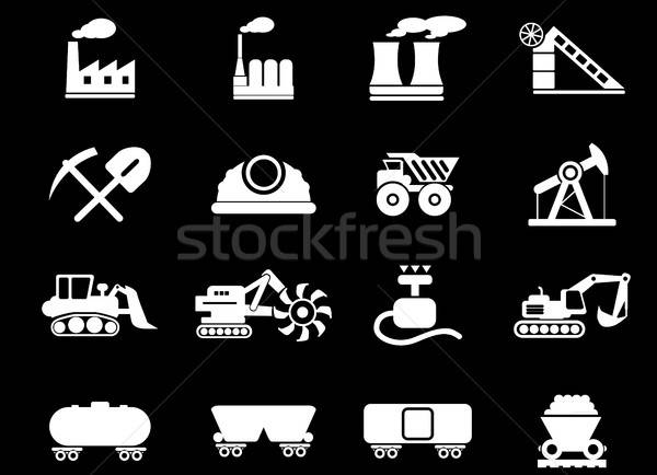 Factory and Industry Symbols Stock photo © ayaxmr