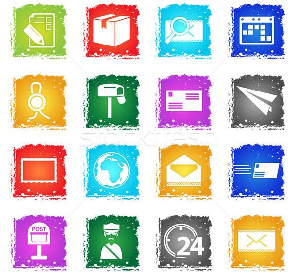 Stok fotoğraf: Gönderemezsiniz · hizmet · vektör · web · simgeleri · grunge
