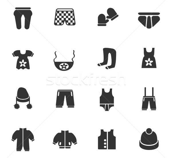 Baby kleding web icons gebruiker interface Stockfoto © ayaxmr