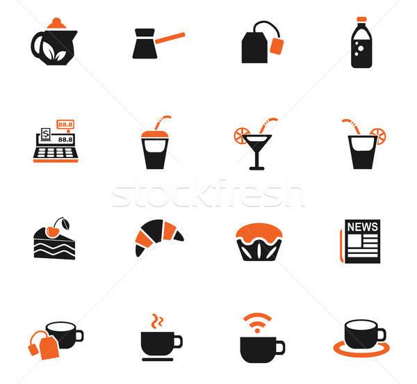Kafe web simgeleri kullanıcı arayüz dizayn Stok fotoğraf © ayaxmr