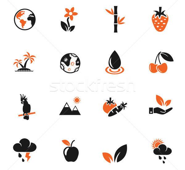 Naturaleza iconos de la web usuario interfaz diseno Foto stock © ayaxmr