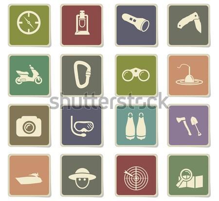 Active recreation icons Stock photo © ayaxmr