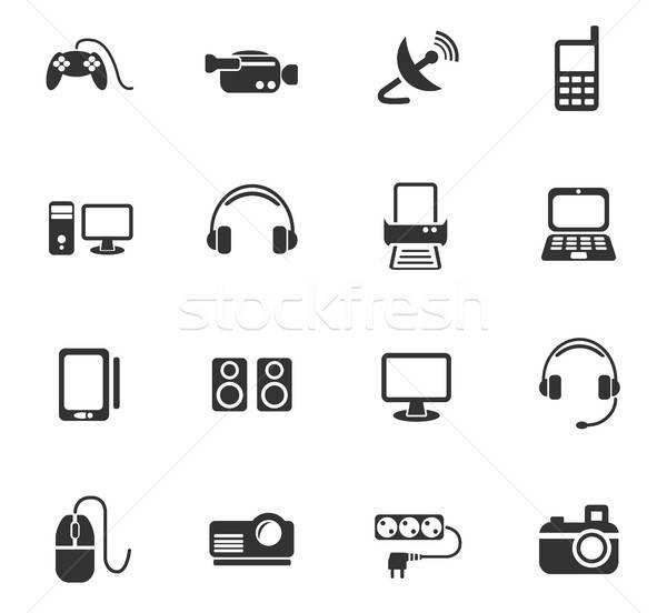 Eszközök ikon gyűjtemény webes ikonok felhasználó interfész terv Stock fotó © ayaxmr