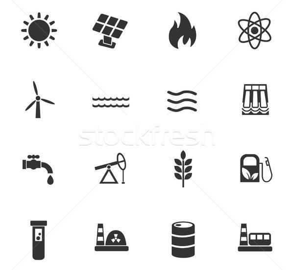 üzemanyag erő ikon gyűjtemény webes ikonok felhasználó interfész Stock fotó © ayaxmr