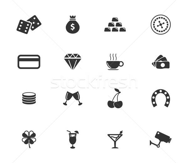Cassino simplesmente ícones símbolo os ícones do web usuário Foto stock © ayaxmr