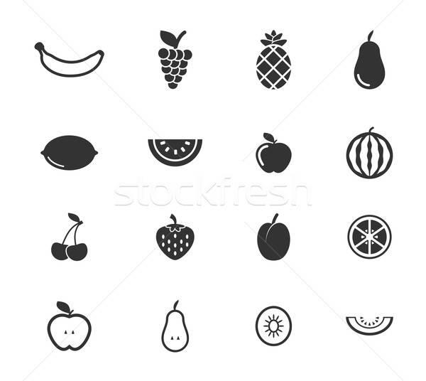 Fruits simply icons Stock photo © ayaxmr