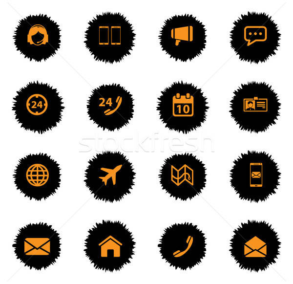 Contacts simply icons Stock photo © ayaxmr