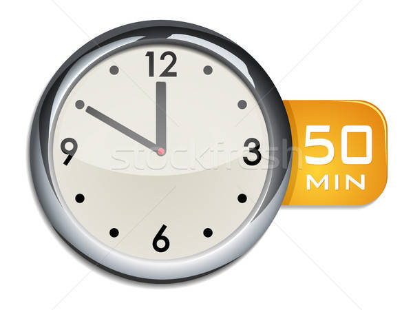 office wall clock timer 50 minutes Stock photo © ayaxmr