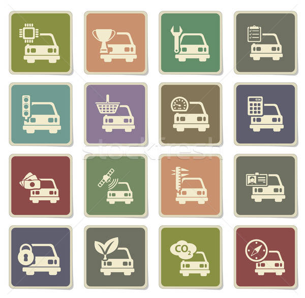 Car service simply icons Stock photo © ayaxmr