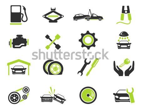 Car shop icons set Stock photo © ayaxmr