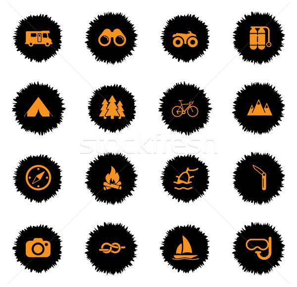 Activo vector iconos web Foto stock © ayaxmr