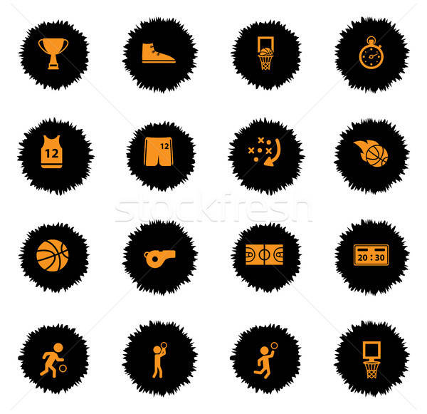 Basketball simply icons Stock photo © ayaxmr