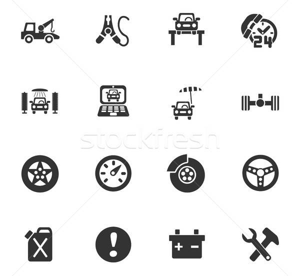 car service icon set Stock photo © ayaxmr
