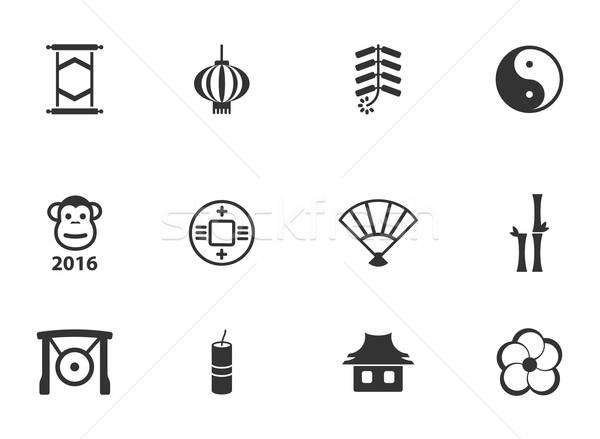 Zdjęcia stock: Chiński · nowy · rok · po · prostu · ikona · proste · internetowych · projektu