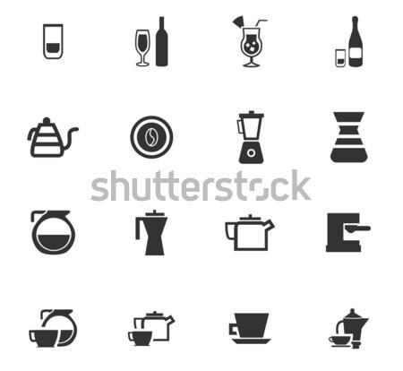 Voorbereiding dranken web gebruiker Stockfoto © ayaxmr
