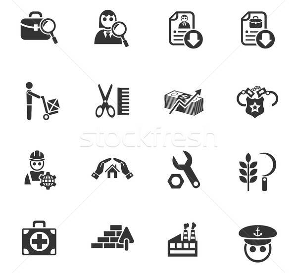 Iş arama web simgeleri kullanıcı arayüz dizayn Stok fotoğraf © ayaxmr