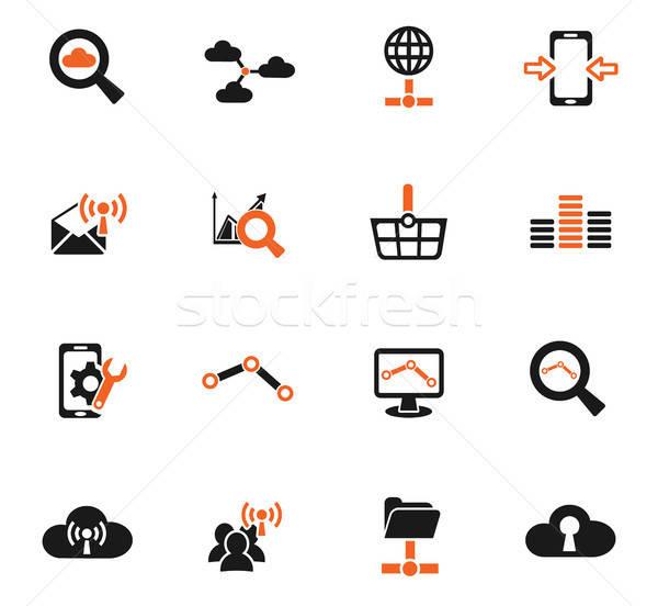 Foto stock: Datos · analítico · red · social · iconos · de · la · web · usuario
