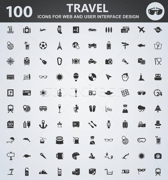 Viaje iconos web usuario interfaz Foto stock © ayaxmr