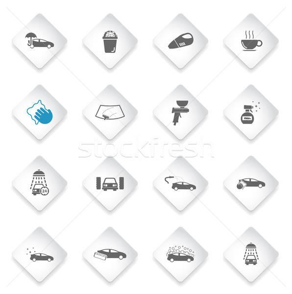 Lava-jato simplesmente ícones símbolos teia usuário Foto stock © ayaxmr