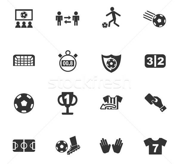 Football icônes web utilisateur interface design Photo stock © ayaxmr