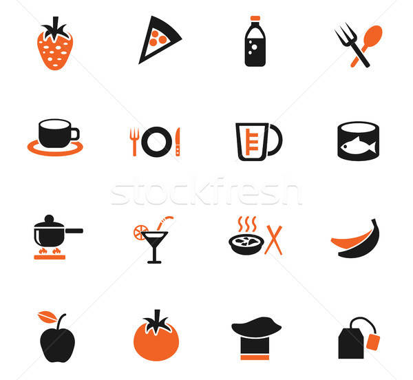 food and kitchen icon set Stock photo © ayaxmr