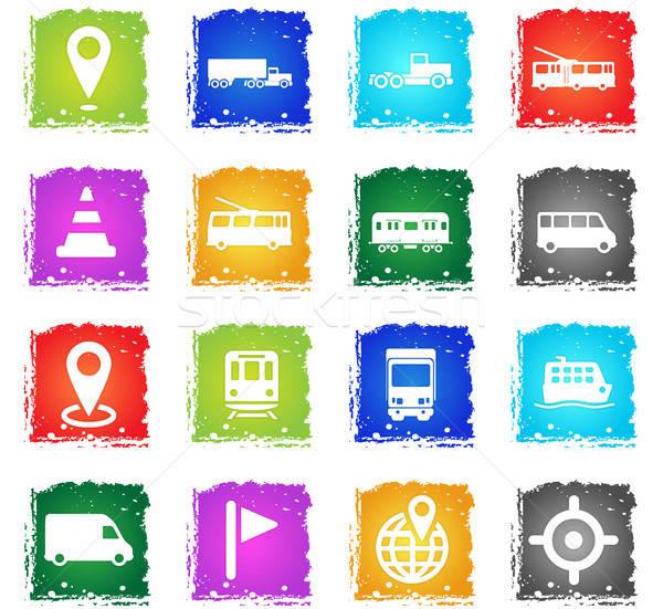 導航 簡單地 圖標 符號 襤褸 風格 商業照片 © ayaxmr