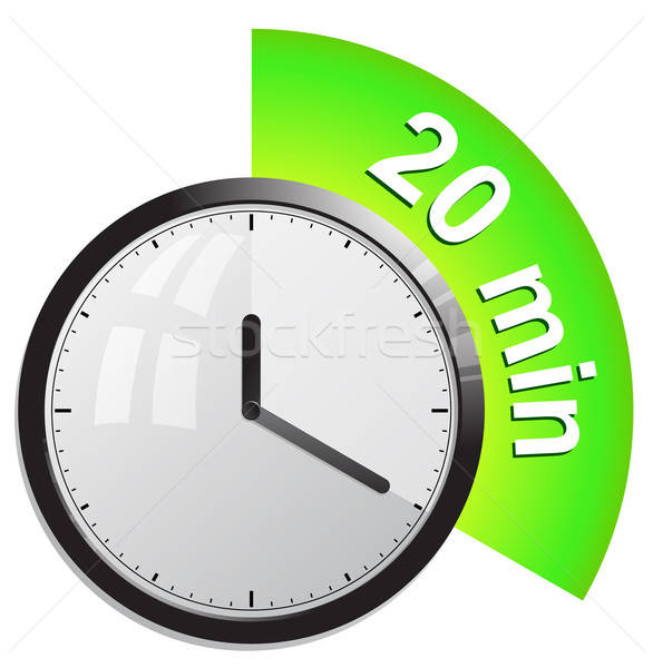 Timer 20 minutes vector illustration Stock photo © ayaxmr